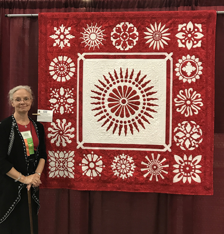 Red & White Explosion   was my faculty showcase piece at Vermont Quilt Festival, 2016, even though it was now a red, white & pink quilt.