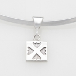 Sterling Silver mini/charm  Spring Love pendant.