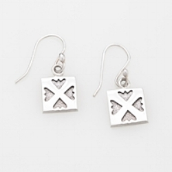 Sterling Silver mini Spring Love earrings on hook, wire or post.