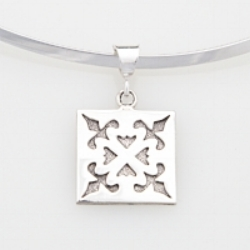 Sterling Silver medium Spring Love pendant.