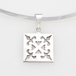 Sterling Silver medium Spring Love pendant.