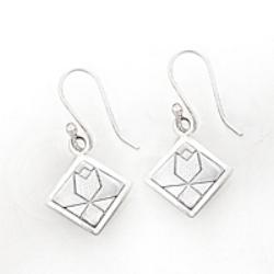 Sterling Silver Tulip Earrings on hook, wire or post.