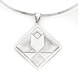 Sterling Silver Tulip Pendant in 3 sizes: mini/charm, medium & large.