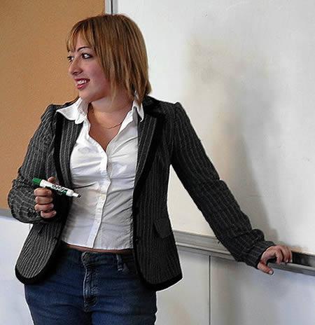 Alia Sabur. 18-years old and the world's youngest college professor.