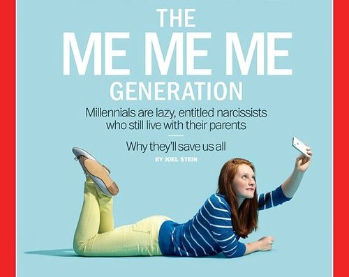 Recent  Time Magazine  cover story that attempted (and failed) to understand GenY.