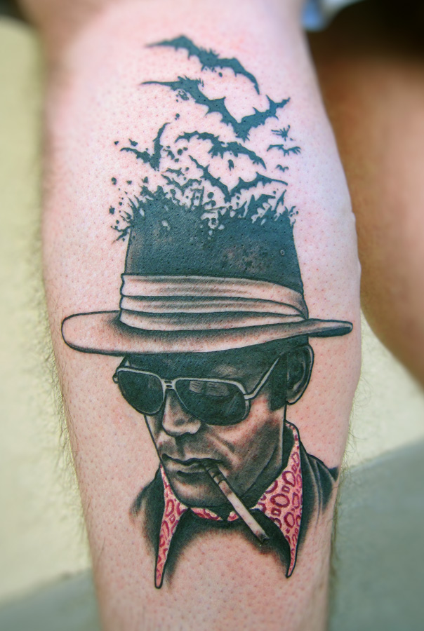 Tattoos by mike biggs biggs studio new for Hunter s thompson tattoos