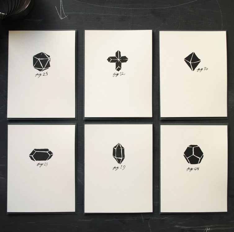 Geo Note Cards  by Frances Lab Studio