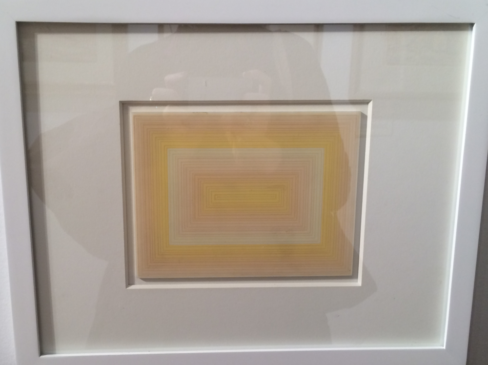 Richard Anuscewicz, Untitled, 1972, Screenpring on white Lucite.  Love the dimension that the lucite gives the screen print!