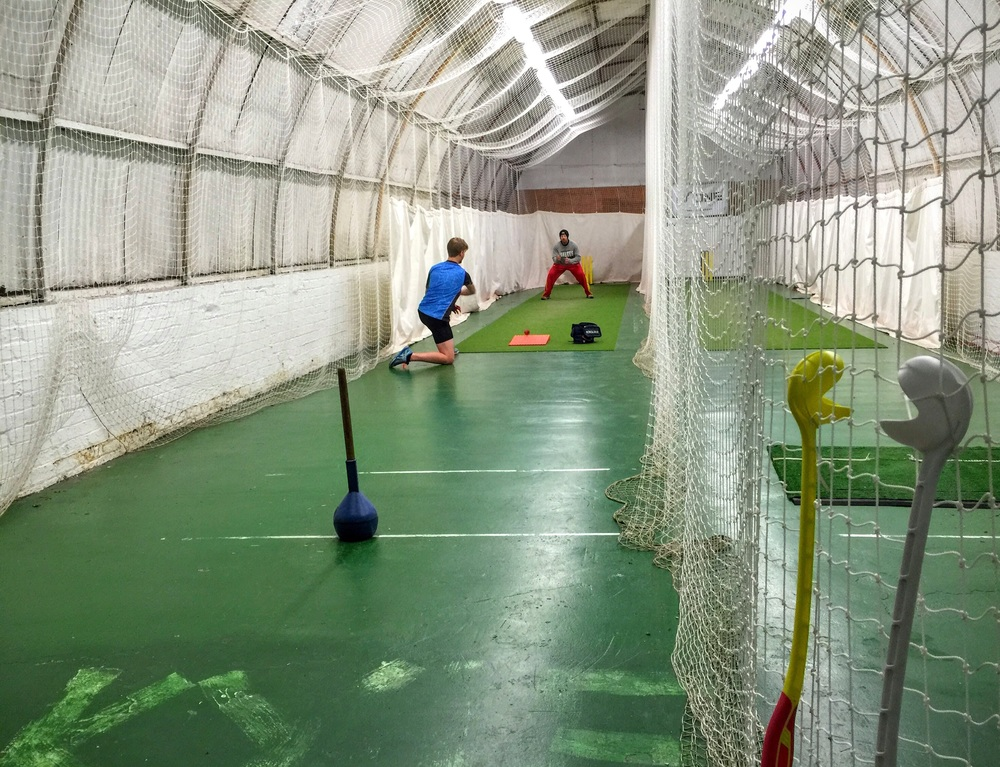 Awesome commitment: West of Scotland Cricket Club 1st XI players stay after practice for fielding work.