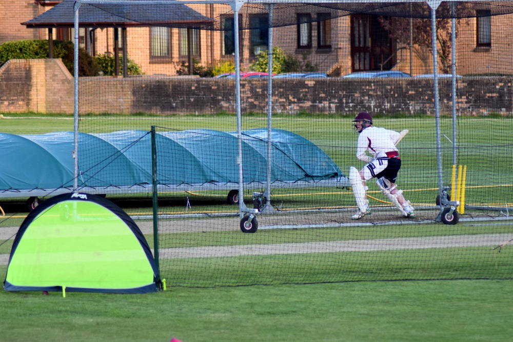 West of Scotland use a lot of nets at cricket practice!
