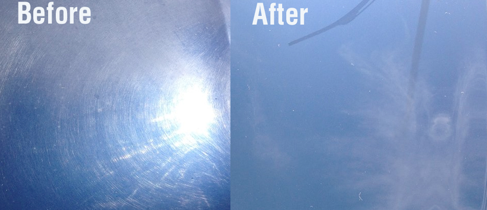 Example of paint correction to remove scratches and restore lost depth and shine.
