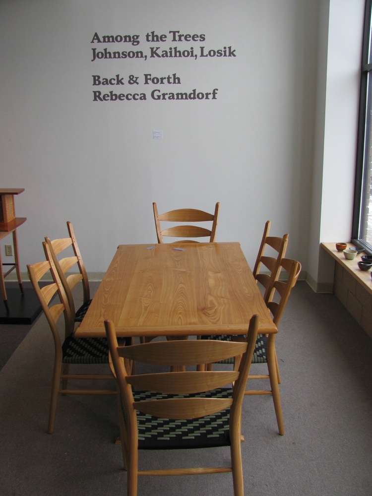 Black ash set of chairs and matching table