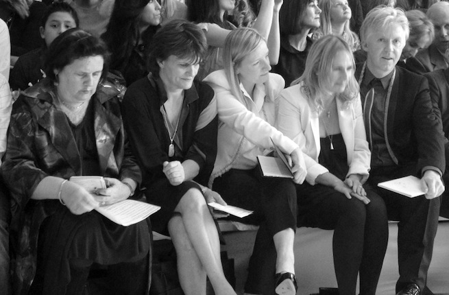Suzy Menkes, Cathy Horyn, Sarah Burton and Phillip Treacey | Source: Bacca da Silva via BofF