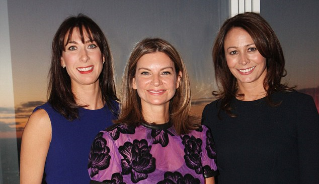 Natalie Massenet, centre, chairman of the BFC. Caroline Rush, right, CEO of BFC