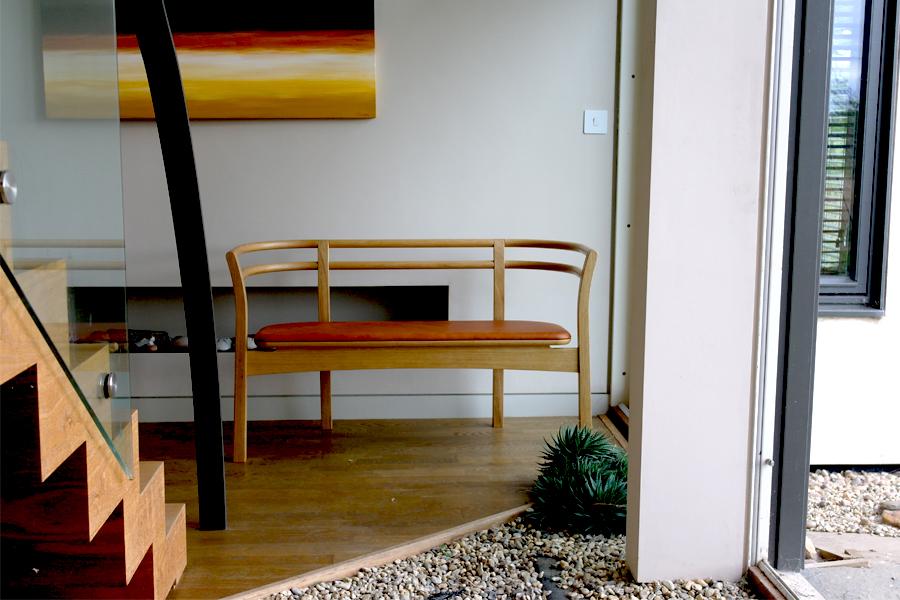 hand crafted Wu bench by designer maker Namon Gaston
