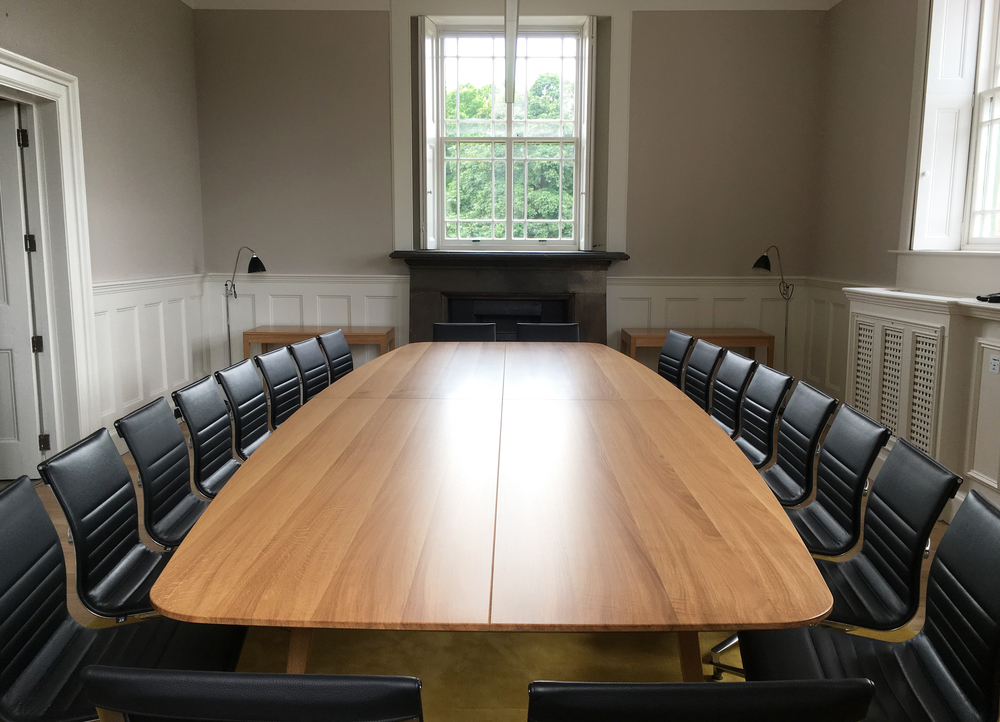 Hand crafted boardroom table by designer maker Namon Gaston