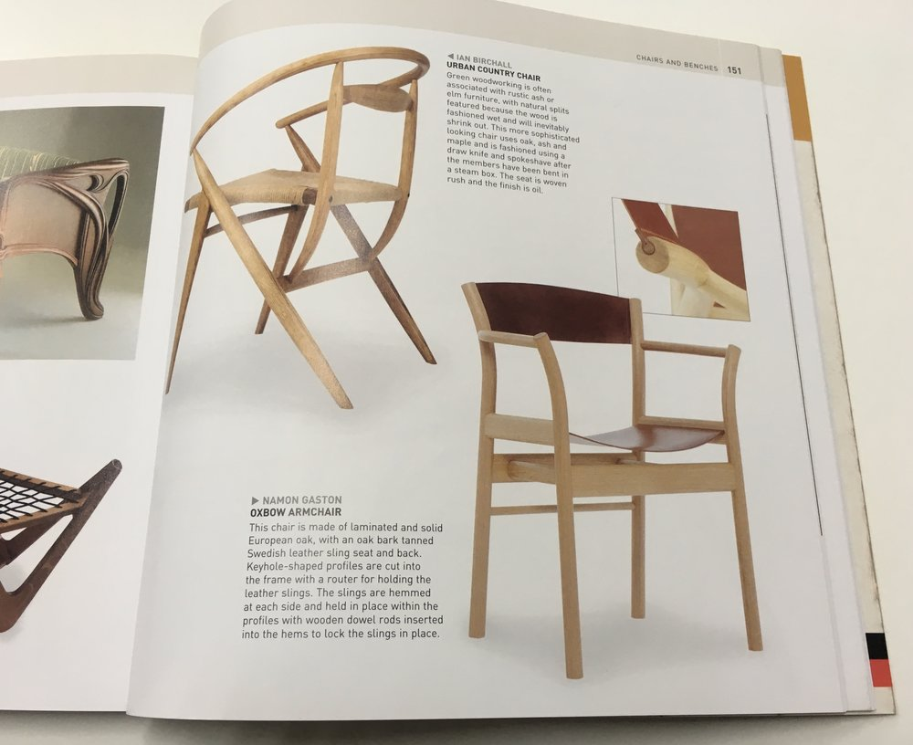 Hand crafted Oxbow Chair featured in furniture design book