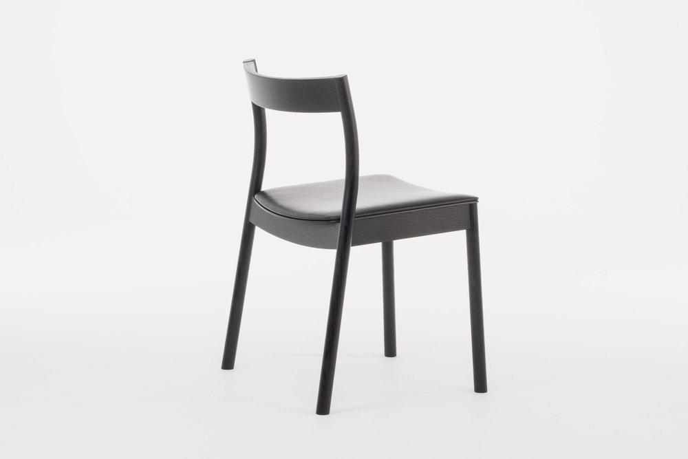 Black Alma Stacking chair