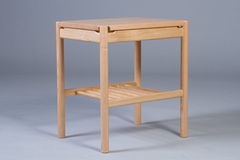English sweet chestnut handmade bedside tables