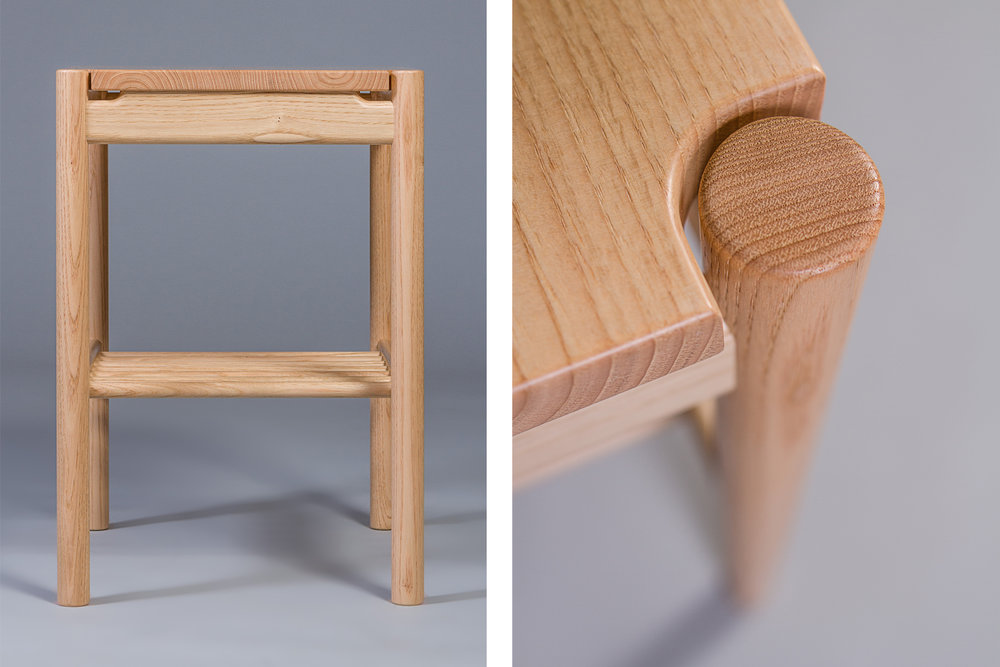 cut out detail on sweet chestnut bed side night stand