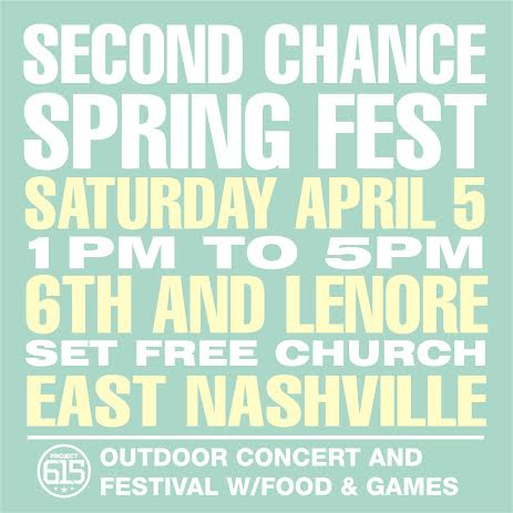 Project 615 is hosting a community outreach this Saturday April 5th from 1pm-5pm.  The location is  816 S. 6th Street Nashville, TN 37206.  It will be located in East Nashville in the Cayce Home Project Community.   Our main mission is to basically throw a big block party in the Cayce Home Project Community and spread the everlasting love of Jesus Christ to our neighbors. There will be live music from local gospel & christian singers, rappers, and musicians.   We are still looking for donations for food as we are also going to be feeding hundreds of people.   Some of our needs include: Hamburgers, Hamburger Buns, Condiments, Side Dishes (Chips, Beans, Potato Salad, Macaroni, etc), Drinks/Water, Ice, Cups, Plates, Fruits &  Veggies.  If you are wanting to donate and come be apart of this event, please contact Paige Garber at garberpaige@gmail.com.