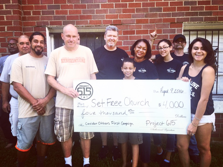 Thanks to all of you AMAZING people, we were able to raise $4,000.00 from the month of July to help our ministry partner, Set Free Nashville! This $4,000 will help go towards housing those who are recovering from homeless, addiction and mental illness! Thank you all so much for allowing us to do work that matters and have a company that helps others! #considerothersfirst #project615 #lovegodlovepeople #matthew2540