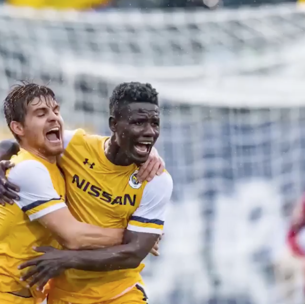 History made as Ropapa makes the first goal! @nashvillesc