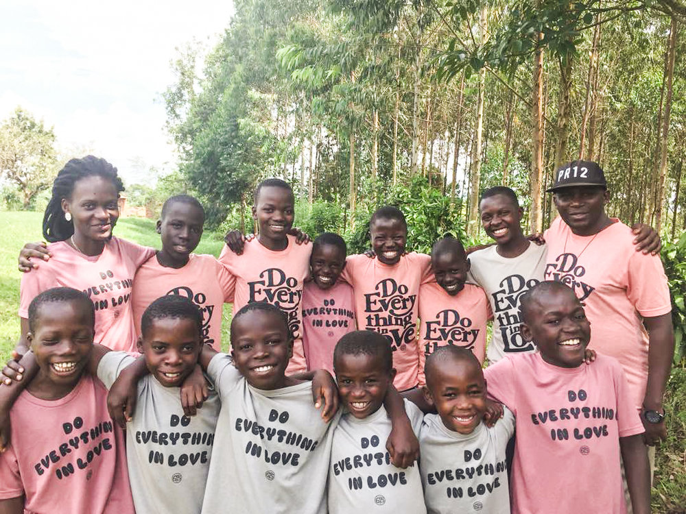 The boys + leaders of the Children's Home in Uganda!
