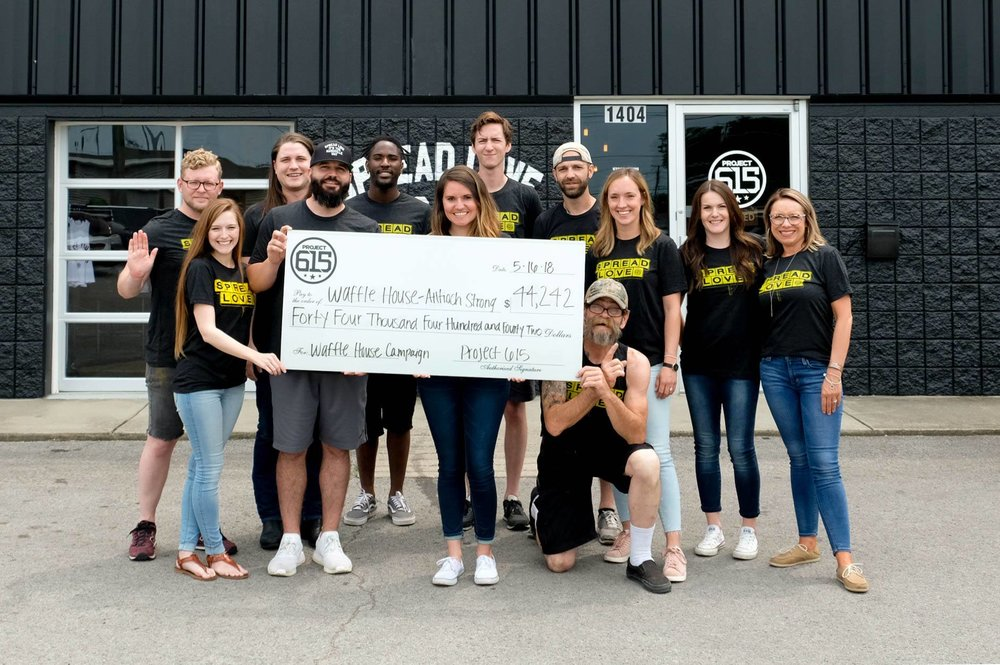After a Nashville tragedy, you all quickly jumped in to help. Over $44,000 was raised for victims and the family of victims who were affected by a local Nashville shooting through our Spread Love campaign.