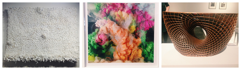 "LEFT: LAUREN FENSTERSTOCK; MIDDLE: ""ABSTRACT 9537C"" KIM KEEVER; RIGHT: ""A VOID"" JANNE KYTTANEN"