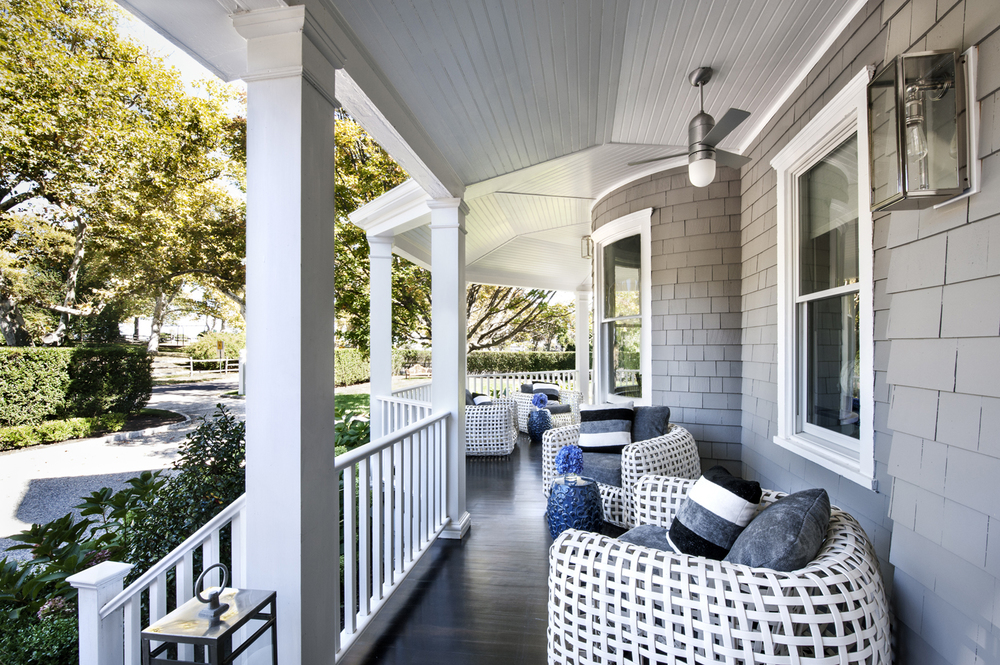 Victorian Rumson Beach Home - FRONT PATIO