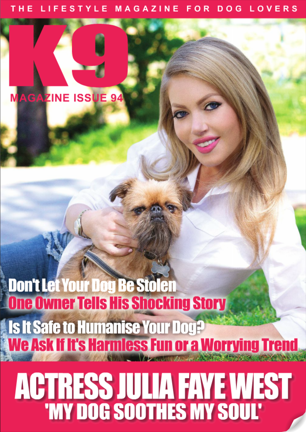 JULIA FAYE WEST - K9 MAG / BEAUTY RETOUCHING / PHOTO ROCHELLE BRODIN