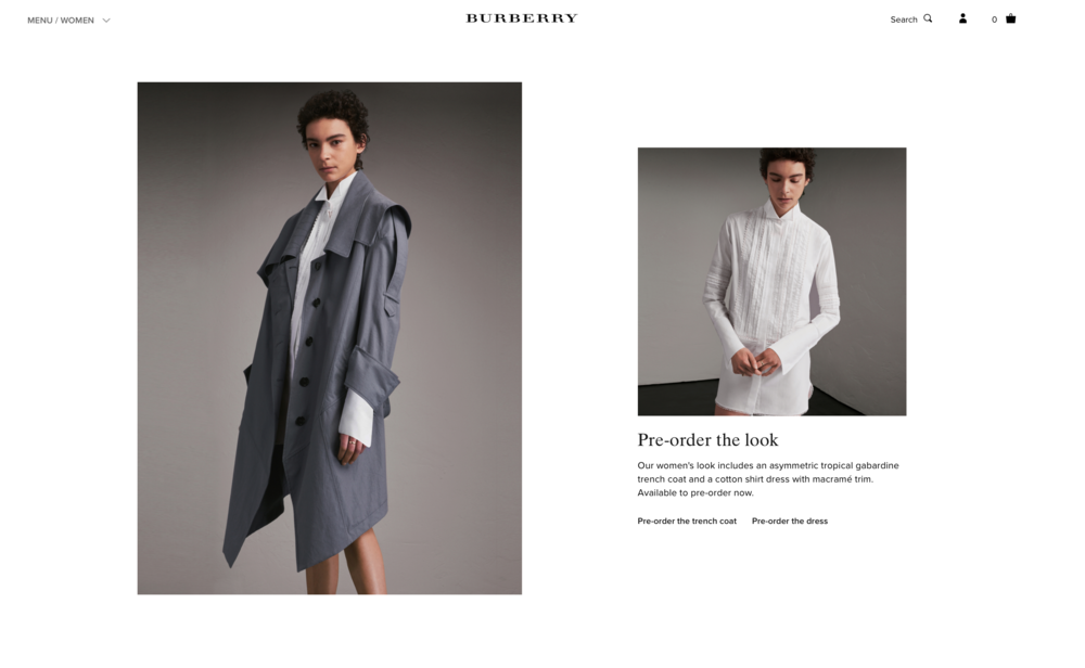BURBERRY / WEBSITE IMAGERY / ECOMM SHOOT RETOUCHING