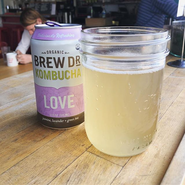 Now you can enjoy LOVE in a can courtesy of @brewdrkombucha ❤️ Now serving in the Fremont cafe!  #eatdrinklaundry #spinfremont #laundromat #bar #cafe #brewdrkombucha #portland #oregon #local #organic #love