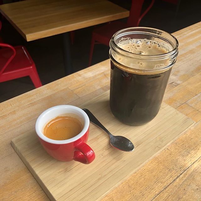 Need a pick me up? The Eye Opener is back with @ninkasibrewing Vanilla Oat Stout and @fogvalleycoffee Espresso. Best of both worlds babey🤘🏻🍺☕️ - #eatdrinklaundry #spinfremont #coffeeandbeer