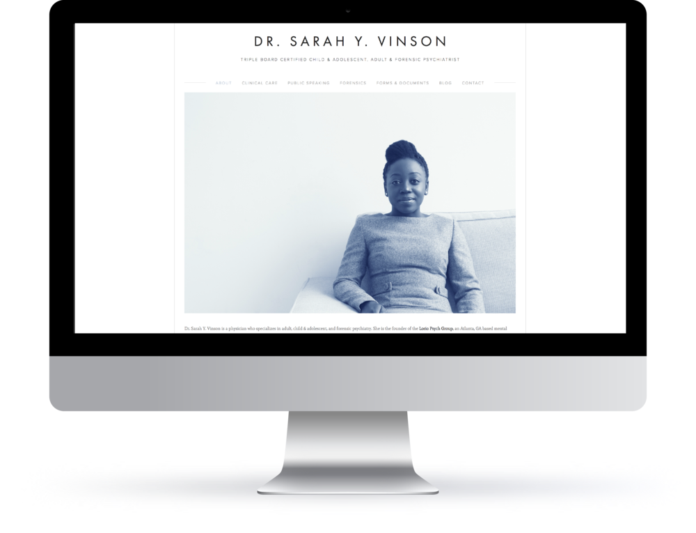 web | identity | branding | photography for dr. Sarah vinson