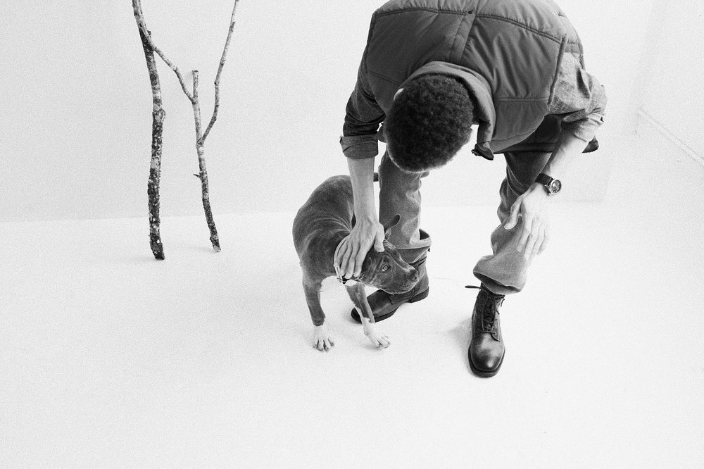 Atlanta based branding and design agency photographs a series for The Urban Animal Scientist on Men and Dogs