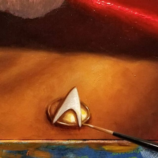 Here is a detail of my upcoming piece for #NewbieNovember boldly going to @everydayorig on November 9th. Qapla!  #startrek #afrocentric #afrofuturism #drawing #sciencefiction #africanart #futuristic #scifiart #blackart #imaginativerealism #instagood #instaart #instadaily  #portraitpainting #oilpainting  #portrait #artgallery #wip  #artsanity #artist #arte #traditionalart #art #artwork #instapic #artoftheday #everydayoriginal  #artistsoninstagram ⠀