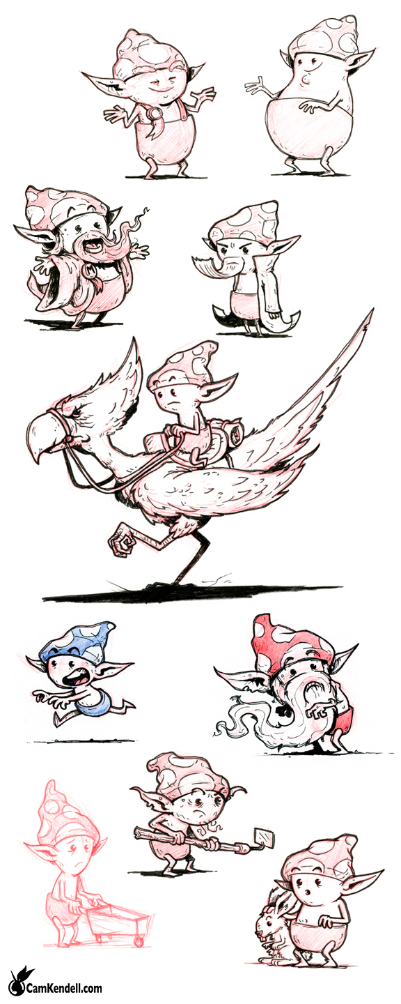 Shroomling Character Sketches