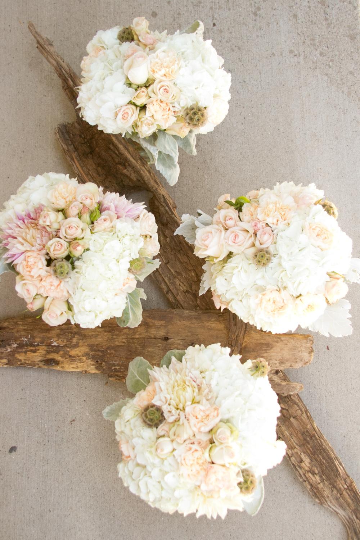 Ivory Bridesamids bouquets, Telluride Wedding Florist