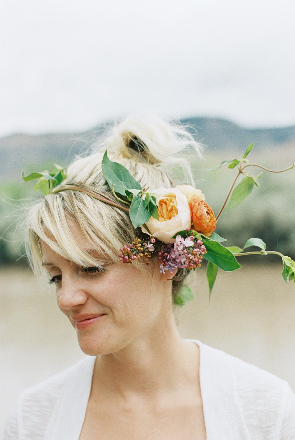3 leaf floral flower crown party