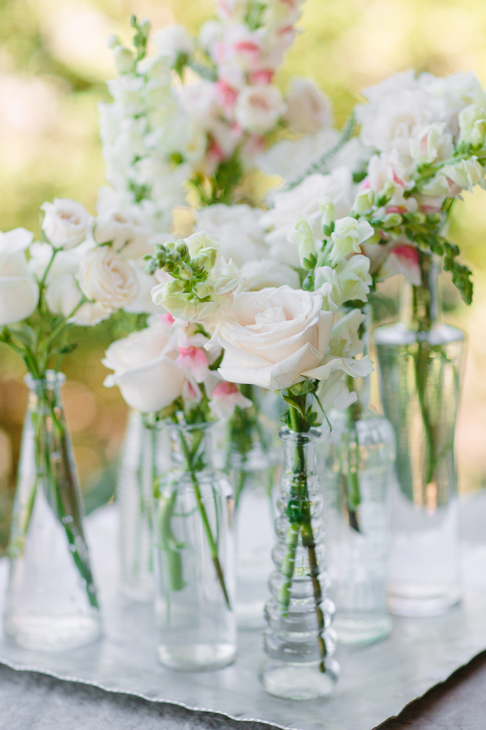 Simple Blush Centerpieces 3 Leaf Floral