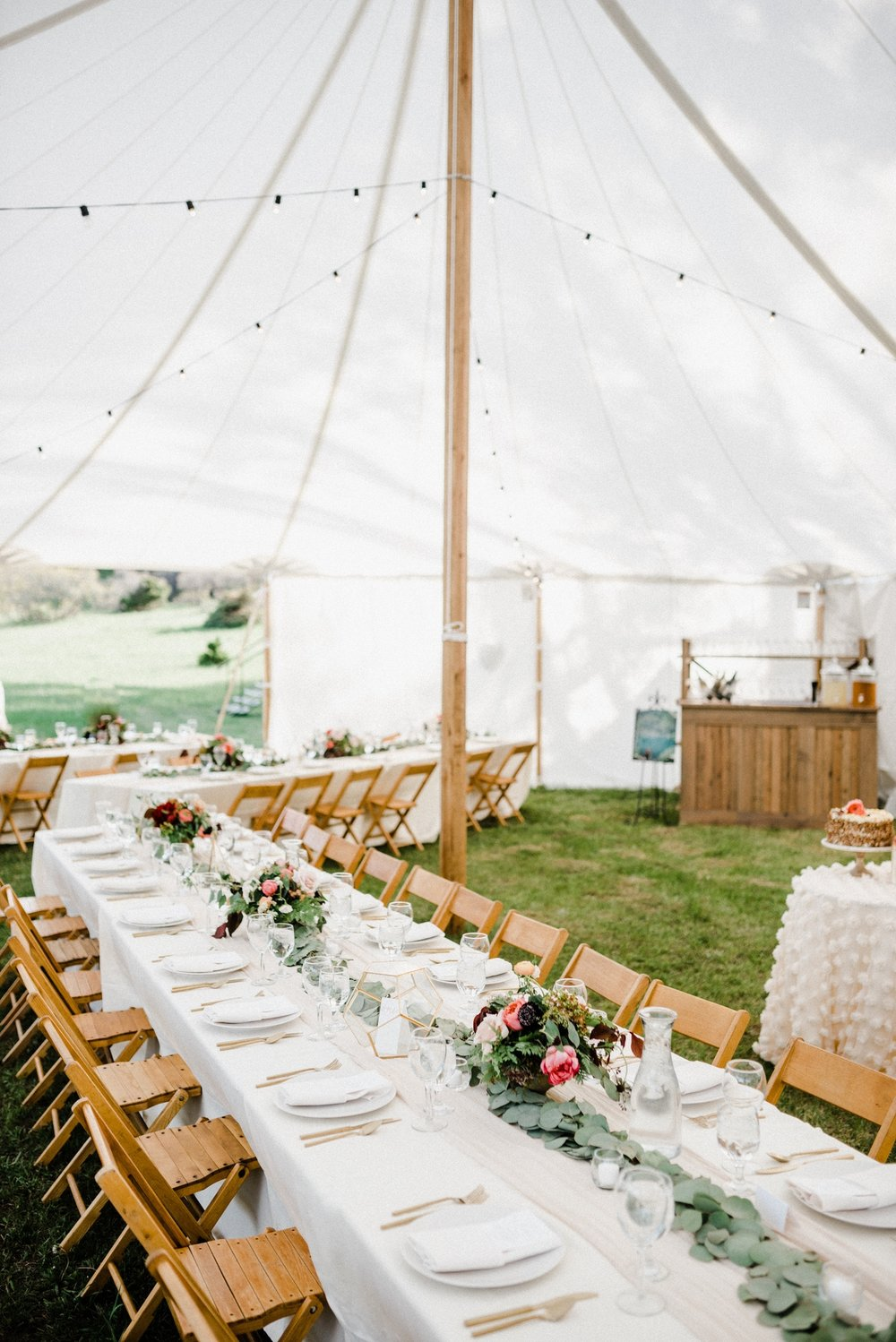 Tented wedding reception in Telluride