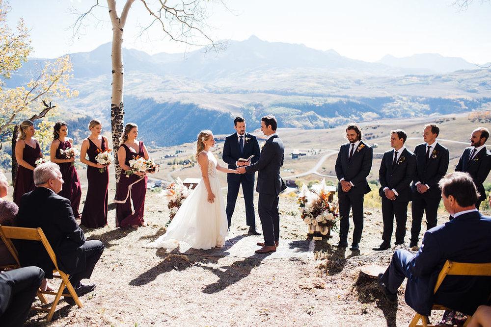 Fall wedding in Telluride