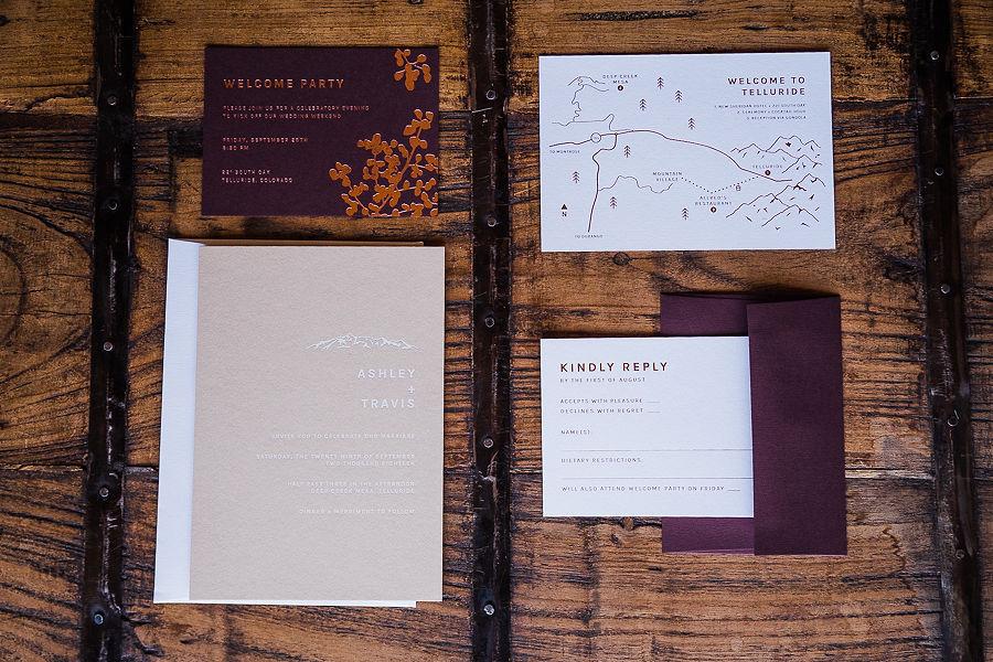 Allred's Restaurant wedding invitations