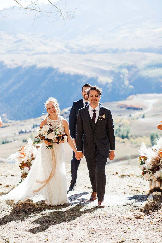 Telluride wedding Allred's and San Sophia Overlook