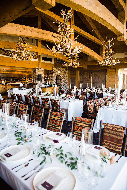 minimal Wedding decor at Allred's Telluride