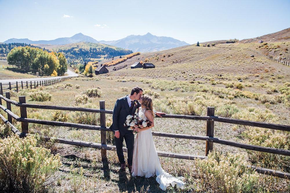 Wedding in Telluride Colorado