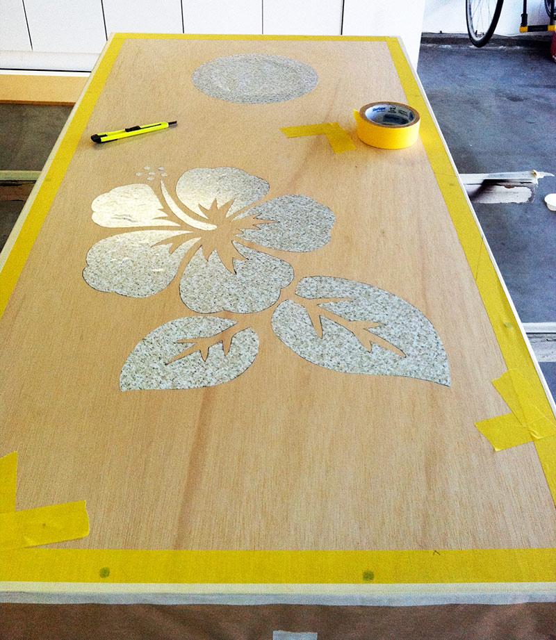DIY Cornhole Boards, Part 2: Reverse Stain