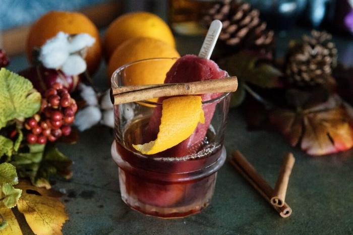 Caramel Bourbon & Sangria Plum Poptail